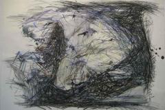 1993, Landschaft III, 50x70cm