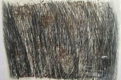 2010, Gestalt, Holzschnitt, Faserstift, 60x80cm